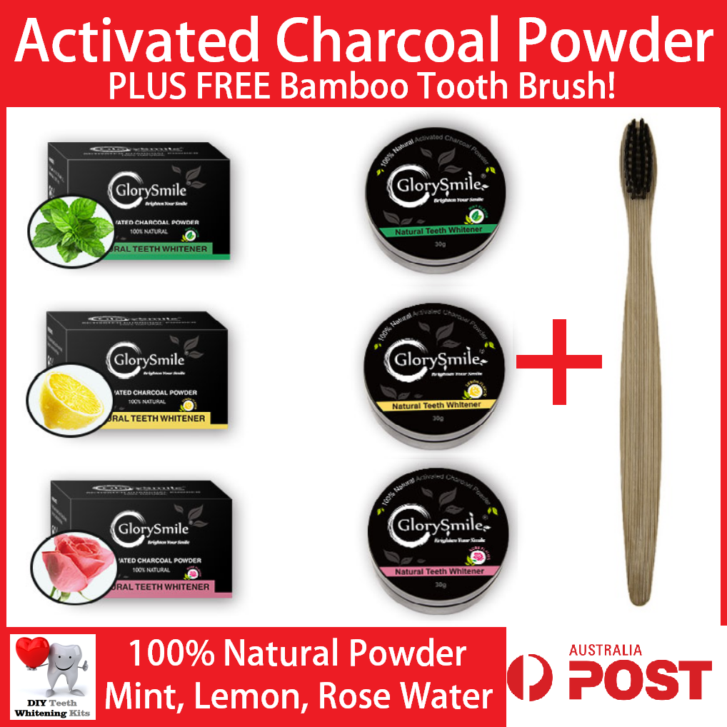 Home DIY Teeth Whitening Activated Charcoal Smile Kit | diyteethwhiteningkits.com