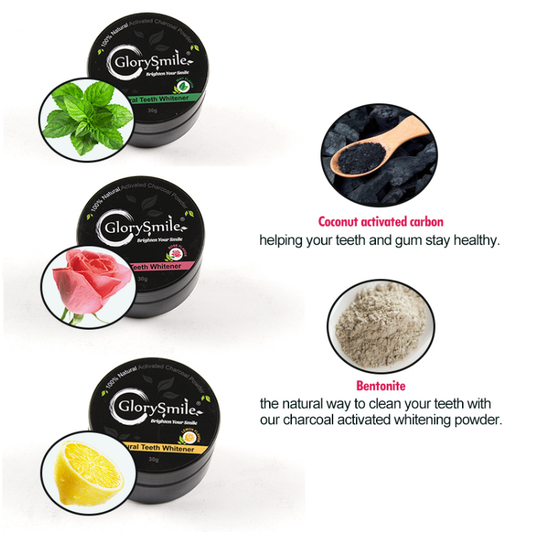 PRE-ORDER Teeth Whitening Kit plus Bonus Charcoal Powder - Mint Lemon or Rose Flavour