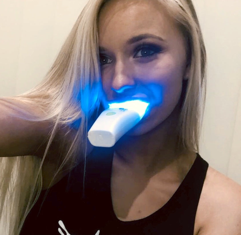 15, 20 or 25 Treatments Teeth Whitening Kit - 7 LED Sonic Massage Gel Activation Mini Light