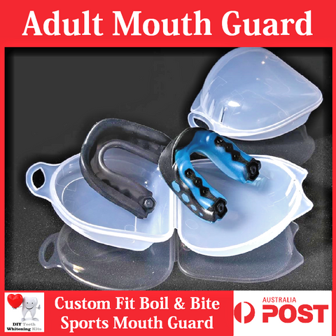 Adult Mouth Guard - Boxing Basketball Rugby Football - Boil and Bite Custom Fit