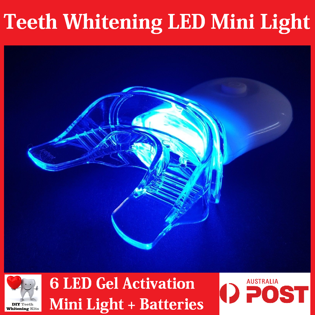 Gel Activation 6 LED Mini Light with Silicon Mouth Tray - White Or Pink