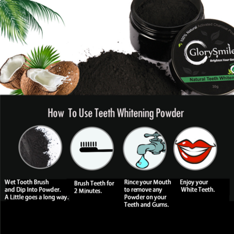 DIY Teeth Whitening Kits | Natural Activated Mint Charcoal Powder