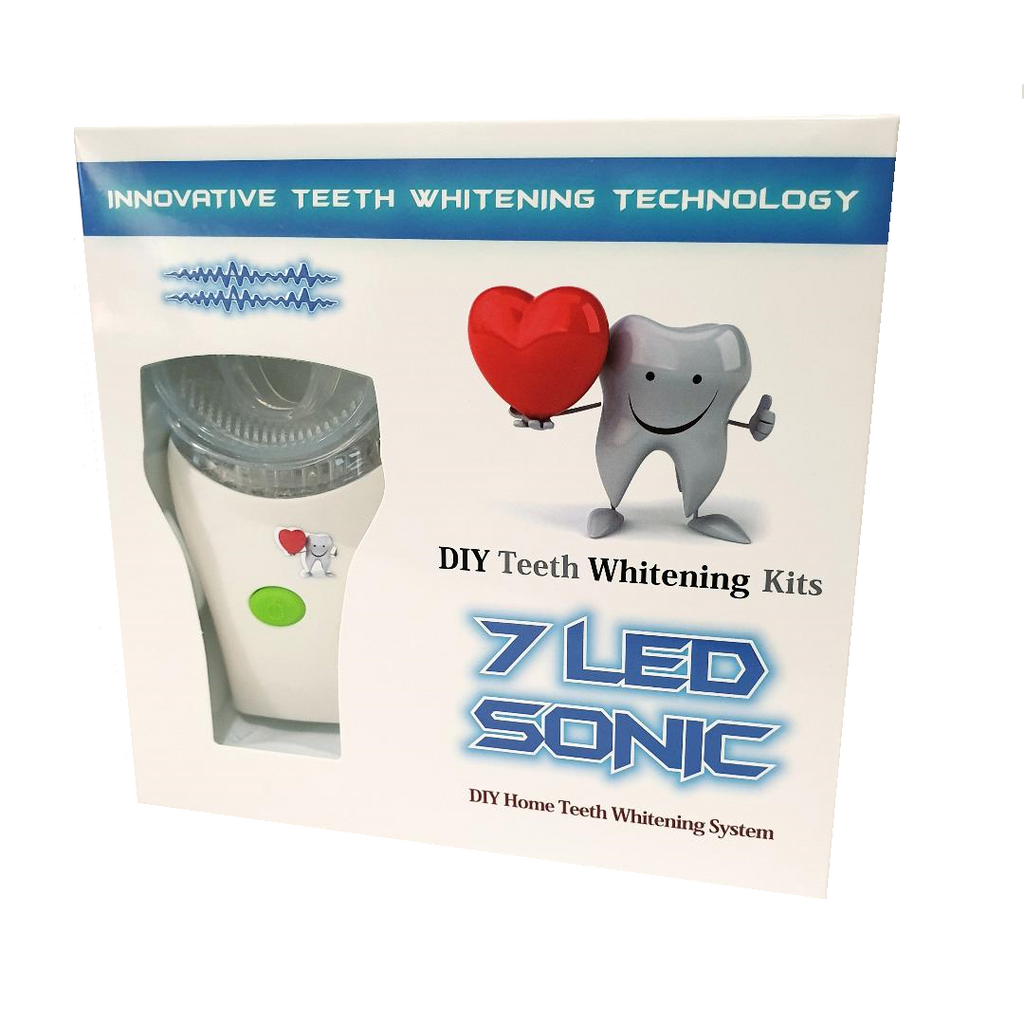 DIY Teeth Whitening Kits | 7 LED Sonic Massage Mint Gel Teeth Whitening Kit