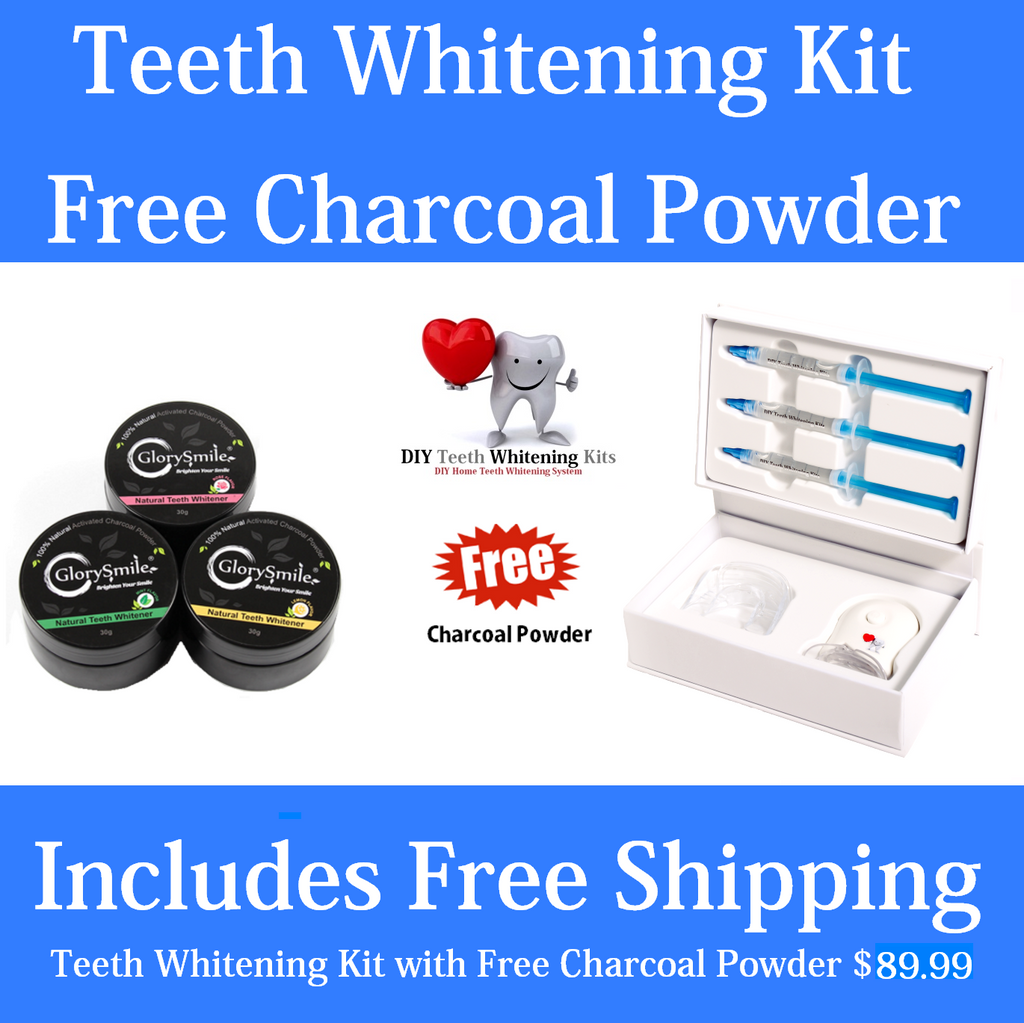 DIY Teeth Whitening Kits | Mint Teeth Whitening Kit plus Bonus Charcoal Powder. Mint, Lemon or Rose