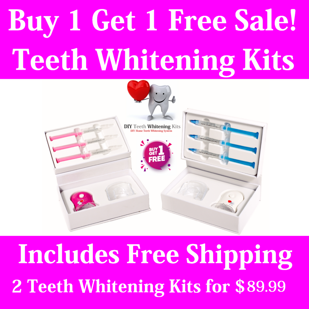 DIY Teeth Whitening Kits | Strawberry and Mint Teeth Whitening Gel Kits | Buy 1 Get 1 Free Sale