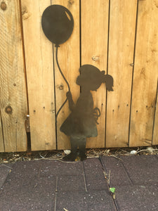 Girl with a Balloon silhouette