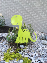 Fun Metal Dinosaur for the yard.  Created by ForgedFrom The Ashes Metalworks and Inspirational Christian Decor
