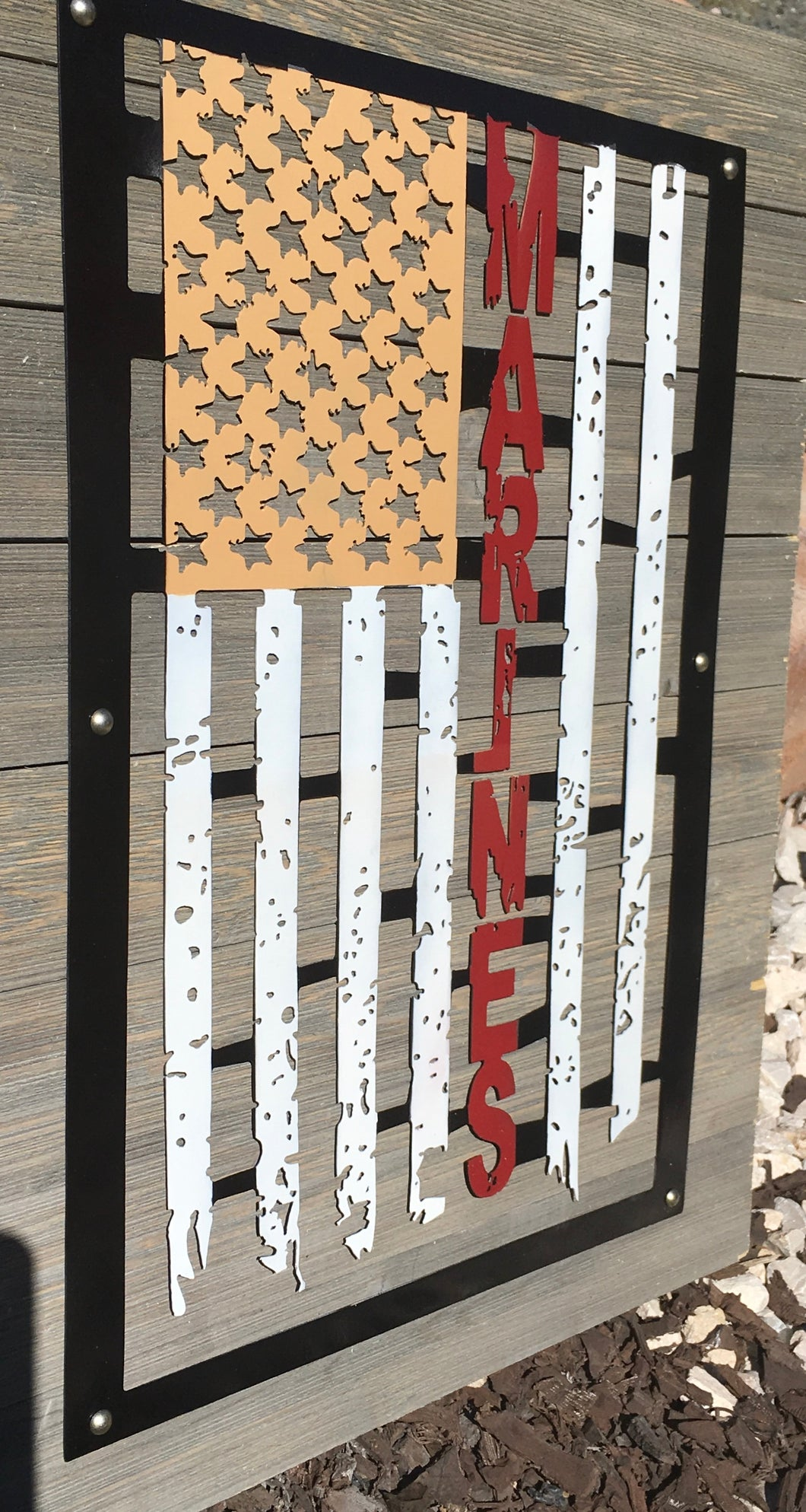 Metal Distressed Armed Forces Flag from Forged From The Ashes Inspirational Artwork for Military and Military Families