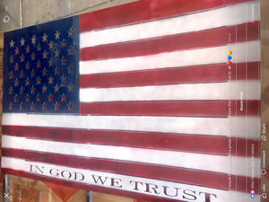 Staked In God We Trust Flag