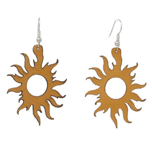 Sunrise Leather Earrings