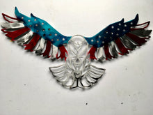 Patriot Eagle in Red, Silver and Blue