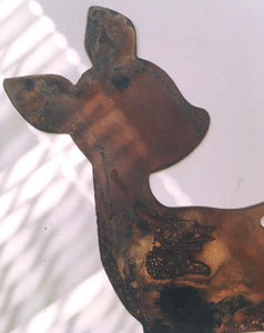 Metal Deer with Butterfly