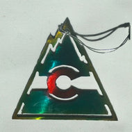 Colorado Vintage Flag Triangle Ornament