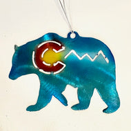 Colorado Bear with C and Mountains