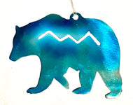 Bear Ornament with Mountains