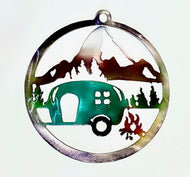 Camping Round Ornament