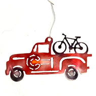 VIntage Truck with Bike ornament