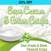 Sour Cream & Onion Protein Crisps (Box or Case)