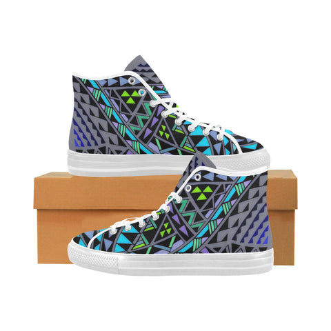 Polynesian Tribal 5- Vancouver High Top Canvas Women's Shoes (Model1013-1)