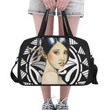 Exotic Babe -Tote And Cross-body Travel Bag (Black) (Model 1671)