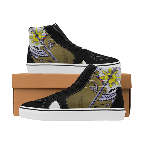 Filipino Sword Men's High Top Canvas Shoes (Model E001-1)
