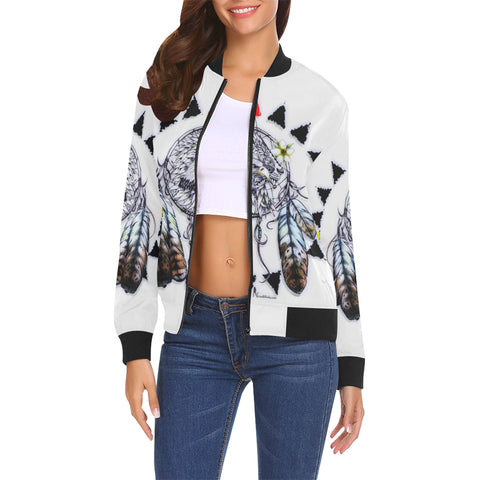 Eagle Lion- Women's All Over Print Casual Jacket (Model H19)