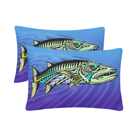 "Polynesian Cuda- Rectangle Pillow Case 20"" x 30""(One Side)(No Zipper)(Set of 2)"
