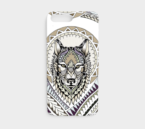 iPhone7-8-Tribal Wolf Phone Cover