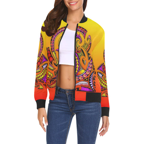 Modern Maori Tribal- Women's All Over Print Casual Jacket (Model H19)