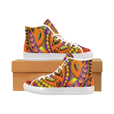 Modern Maori Tribal-Vancouver High Top Canvas Women's Shoes (Model1013-1)