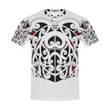 Maori Tribal Black Red -Men's All Over Print T-shirt (USA Size) (Model T40)