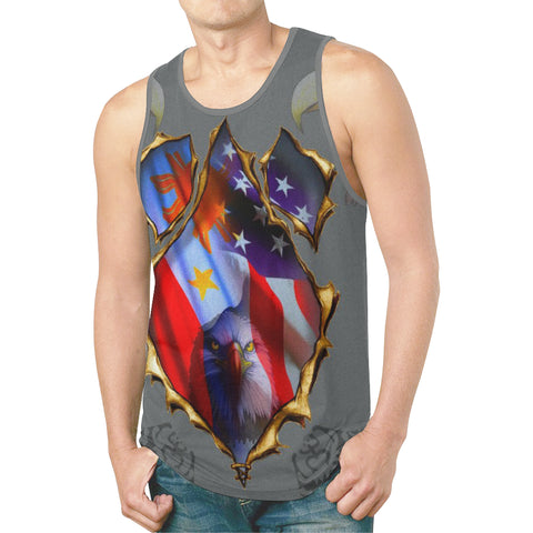 Americano Filipino- Men's All Over Print Tank Top (Model T46)