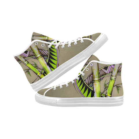 Bamboo Dreams Vancouver High Top Canvas Women's Shoes (Model1013-1)