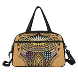 Polynesian Style Tribal 3- Tote And Cross-body Travel Bag (Black) (Model 1671)