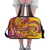 Modern Maori Tribal 2- Tote And Cross-body Travel Bag (Black) (Model 1671)
