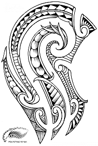 Modern Maori Polynesian Style Tattoo Design. (Polystyle-10-12in.) *Digital)