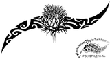 Irish and Polynesian Style Tattoo Design. (Polystyle-11-7in.) *Digital)