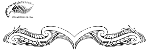 Sexy Tramp Stamp Polynesian Style Tattoo Design. (Polystyle-14-11in.) *Digital)