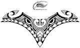 Sexy Breast Polynesian Style Tattoo Design. (Polystyle-17-12in.) *Digital)