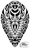 Polynesian Style Calf or Shin Tattoo Design (Polystyle-28-11in.) *Digital)