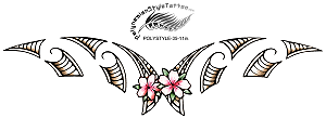 Maori Inspired Polynesian Style Flower Tattoo Design. (Polystyle-35-11in.) *Digital)