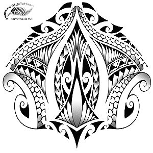Maori Inspired Polynesian Style Leg Tattoo Design. (Polystyle-36-11in.) *Digital)