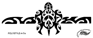 Tribal Turtle *Honu) Polynesian Style Tattoo Design. (Polystyle-4-7in.) *Digital)