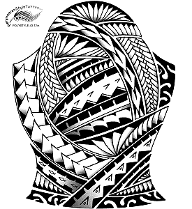 Polynesian Style Arm or Leg Tattoo Design. (Polystyle-43-12in.) *Digital)