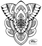 Polynesian Style Maori Inspired Design (Polystyle-52-11in.) *Digital)