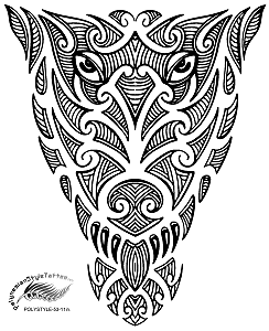 Polynesian Style Owl Tribal Tattoo Design.(Polystyle-53-11in.) *Digital)
