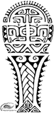 Polynesian Style Tribal Tattoo Design. (Polystyle-55-11in.) *Digital)