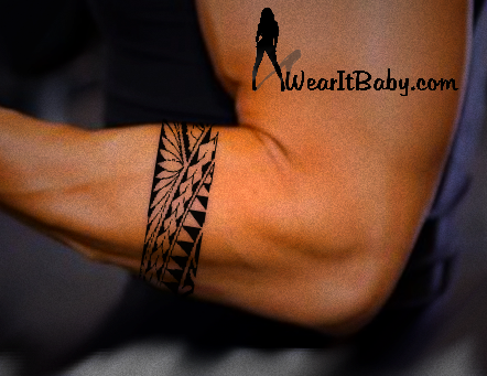 Tribal Arm Band Polynesian Style Tattoo Design Polystyle 6 11in