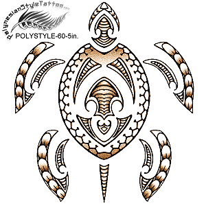 Polynesian Style  Honu Tribal Tattoo Design. (Polystyle-60-5in.) *Digital)