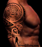 Polynesian Style Mana Tattoo Design. (Polystyle-61-12in.) *Digital)